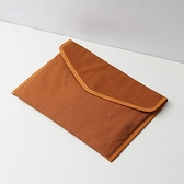 帆布手拿包-簡約輕薄13.3吋防潑水男女筆電包4色73zy12【時尚巴黎】