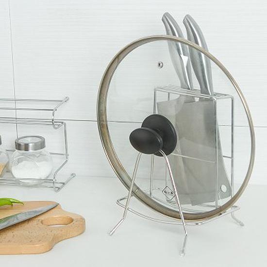✭米菈生活館✭【H48】砧板刀具置物架 不鏽鋼 刀座 廚房 瀝乾 通風 衛生 防滑 鍋蓋 防滑 多功能
