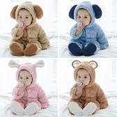 嬰兒秋冬連體衣加厚男寶寶冬裝睡衣0-1歲外出抱衣3女套裝冬季衣服