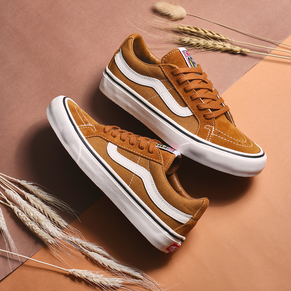 VANS 休閒鞋 SK8-LOW 焦糖色 褐色 SALT WASH 水洗感 男女 (布魯克林) VN0A4UWIA0T