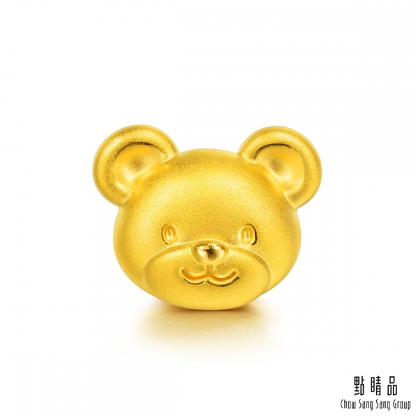 點睛品 Charme 微笑小熊 黃金串珠