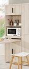 【森可家居】塔利斯6尺高收納櫃(不含桌椅) 8CM900-5 餐櫃 廚房櫃 碗盤碟櫃 木紋質感 無印北歐風