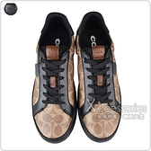 COACH專櫃款LOWLINE灰字LOGO塗層帆布飾皮革低筒運動鞋(兩色)