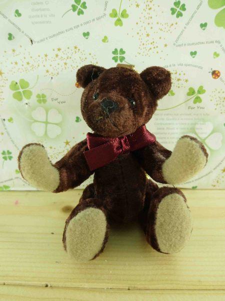 【震撼精品百貨】泰迪熊_Teddy Bear~絨毛鎖圈-咖啡/酒紅色蝴蝶結