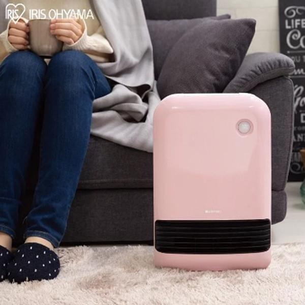 【南紡購物中心】IRIS 防傾倒 人感陶瓷電暖器 JCH-12TD3 (粉色)
