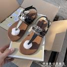 2021夏季魔術貼平底兒童涼鞋31-36碼中大童鞋 科炫數位