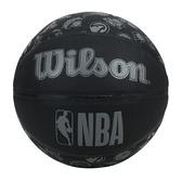 WILSON NBA ALL TEAM 隊徽合成皮籃球#7(訓練 室外 7號球≡體院≡ WTB1300XBNBA