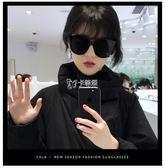 型男太陽眼鏡 韓國大框顯臉透明海洋片太陽鏡女士開車蛤蟆墨鏡男 卡菲婭