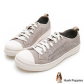 Hush Puppies 玩色針織輕量休閒鞋-褐色