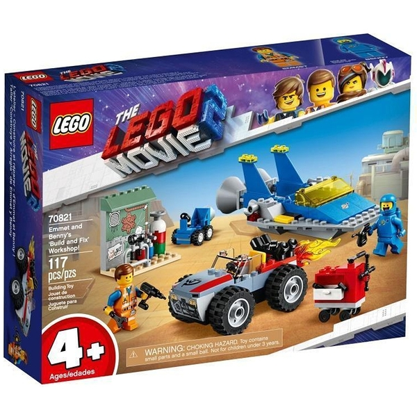 LEGO 樂高 Emmet and Benny's Build and Fix' Workshop! 艾密特與班尼的工作坊 70821