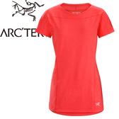 【ARC TERYX 始祖鳥 女款 Taema 快乾短袖圓領衫《亮紅》】18909/圓領T恤/排汗衣/運動衫
