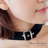 寬版皮帶扣造型頸鍊  【櫻桃飾品】【10501】