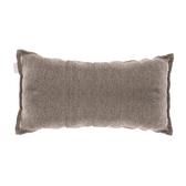 HOLA 新素色織紋抱枕30x60cm 棕色