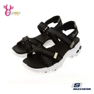 Skechers涼鞋 女涼鞋 D LITES 休閒涼鞋 健走涼鞋 柔軟舒適百搭 魔鬼氈涼鞋 金蔥點綴 V8283#黑色