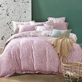 ✰特大 薄床包兩用被四件組✰ 100%純天絲《墨竹-粉》