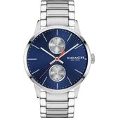 【僾瑪精品】COACH Metropolitan 率性大方 時尚中性錶-藍/42mm/14602098