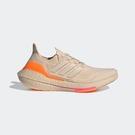 Adidas Ultraboost 21 W [FZ1919] 女鞋 運動 休閒 支撐 避震 貼合 舒適 愛迪達 米白橘