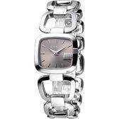 GUCCI G-GUCCI 經典品牌手鍊錶-香檳面/銀 YA125507