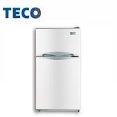 ↙0 利率↙TECO 東元100 公升雙門小冰箱R1001W 白色小鮮綠一級能效【南霸天  】