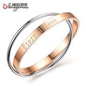 [Z.MO鈦鋼屋]雙圈設計玫瑰金色手環/甜美動人/優雅時尚/韓版精緻設計單件價【CKS714】