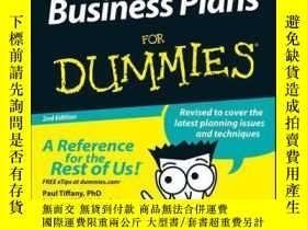 二手書博民逛書店Business罕見Plans For Dummies, 2nd EditionY410016 Paul Ti