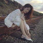 女裝夏季潮牌沙灘裙蕾絲白色連衣裙