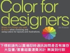 二手書博民逛書店Color罕見for Designers:Ninety-five things you need to know