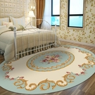 客廳地毯-歐式田園臥室床邊床尾地毯 客廳茶幾餐桌小清新橢圓形地毯 可定制 艾莎YYJ