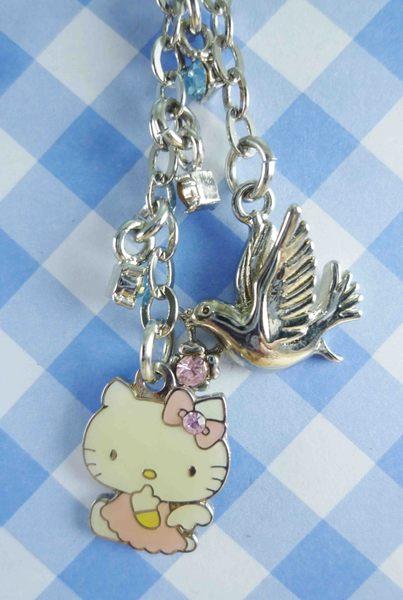 【震撼精品百貨】Hello Kitty 凱蒂貓~KITTY手機提帶-銀鍊飛鳥