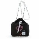小花花日本精品HelloKitty黑色潛水布束口斜背包水桶包束口提袋束口包42181705