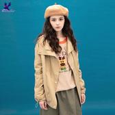 【秋冬降價款】American Bluedeer - 個性連帽風衣外套(特價) 秋冬新款