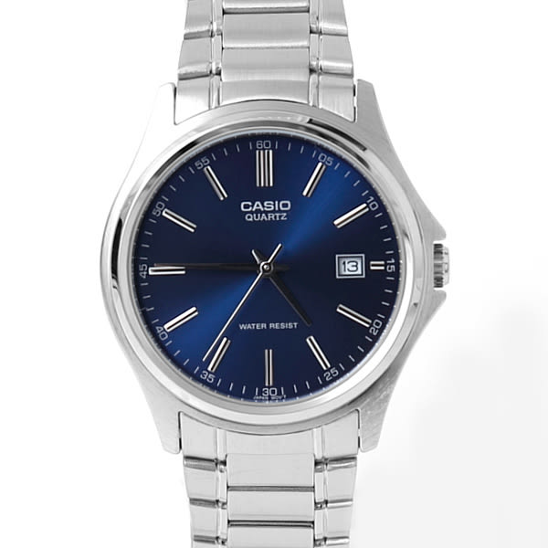 CASIO卡西歐藍面日期窗鋼錶 柒彩年代【NEC31】