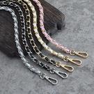 包包鍊條 泫雅編織包diy小香風包包鍊條單買包帶配件斜背穿皮金屬包鍊小包 晶彩