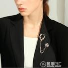 胸針鹿胸針鏈飾品女西裝西服男高檔襯衫氣質領針領扣裝飾胸花別針配飾 電購3C