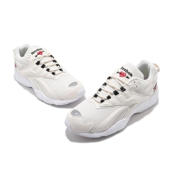 Reebok 休閒鞋 INTV 96 情人節 米白 黑 男鞋 女鞋 小愛心 復古慢跑鞋 老爹鞋 【ACS】 FX2143