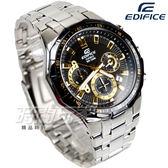 EDIFICE EFR-554D-1A9 計時碼錶 科技感立體多角切割框防水賽車男錶 黑x金 EFR-554D-1A9VUDF CASIO卡西歐