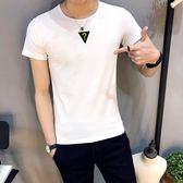 男短t恤 韓版T恤 男t恤 短袖t恤 韓版修身時尚印花上衣 大尺碼男裝【非凡上品】q725