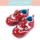 Swan天鵝童鞋-可愛點點鏡面機能鞋1489-紅