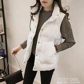 2021年新款女士馬甲女短款韓版秋冬羽絨棉服背心面包服馬夾外套女 夏季新品