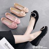 新款老北京布鞋女鞋平跟單鞋黑色工作鞋時尚透氣媽媽鞋軟底豆豆鞋 西城故事