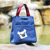 飯盒包手提包防水女包手提便當包飯盒袋便當盒帶飯包帆布保溫袋子