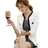 小西裝外套女新款修身韓版職業正裝休閒長袖西服上衣短款學生   全館免運