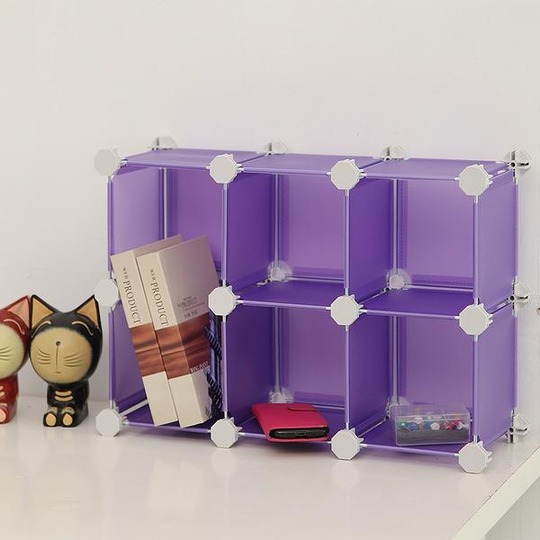 【H&R安室家】迷你6格收納櫃-5.8吋百變收納櫃/組合櫃-HP60