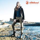 【WildLand荒野】0A52307女彈性合身保暖長褲 (S~2L) / 城市綠洲 (露營、戶外休閒、旅行)