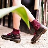 店長推薦★真皮大圓頭娃娃鞋軟妹少女單jk制服小皮鞋平底學院風復古瑪麗珍鞋