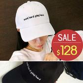 棒球帽/鴨舌帽 字母 運動 可調節 遮陽帽 棒球帽【QI8525】 BOBI 夏天就是要