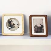相框 新中式7寸8寸10寸a3實木圓角相框擺台高端正方形精致全家福兒童照