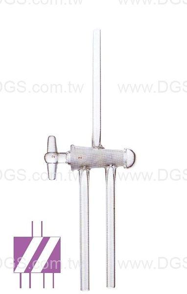 《SYNTHWARE》三方斜孔 玻璃活栓 Stopcock,Glass,Hollow Plug,Double Oblique,High Vacuum