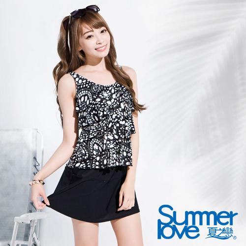 【Summer Love 夏之戀】時尚靚女長版三件式泳衣(E16724)