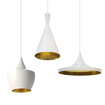英國 Tom Dixon Beat White Light Series Suspension Lamp 白澤 吊燈(Wide 寬廣款)
